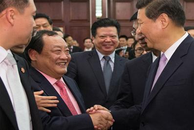 2013年3月,国家主席习近平接见楼忠福