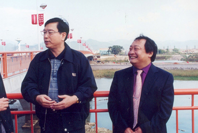 时任国务院副总理张德江与楼忠福